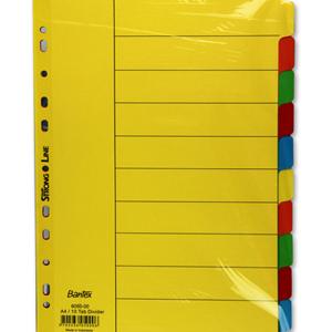 Filing & stationery - 10 tab coloured divider sets