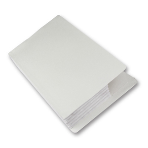 FO-007-02  super heavy duty concertina pocket with Tyvek (cloth) gusset.  White.