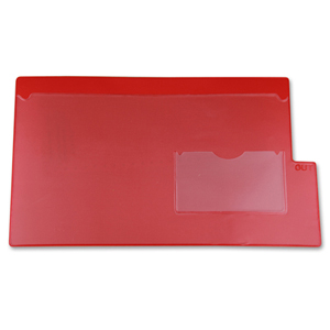 Filing - vinyl outguide with pocket.  Legal size. Red