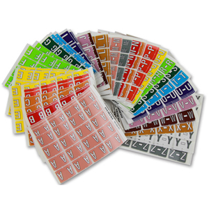 Colour coded label - alpha label supplementary kit