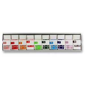 Colour coded filing labels - FSI 1/2 size numeric labels starter kit